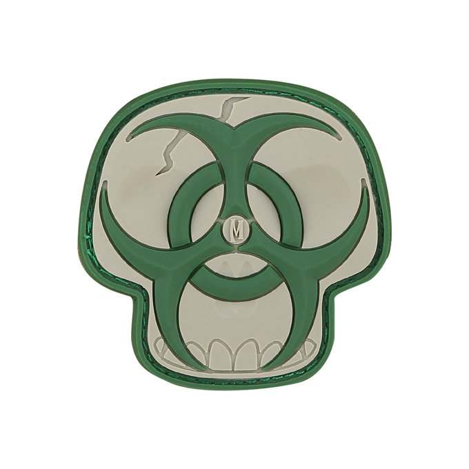 Maxpedition PVC Morale Patch - Biohazard Skull Arid