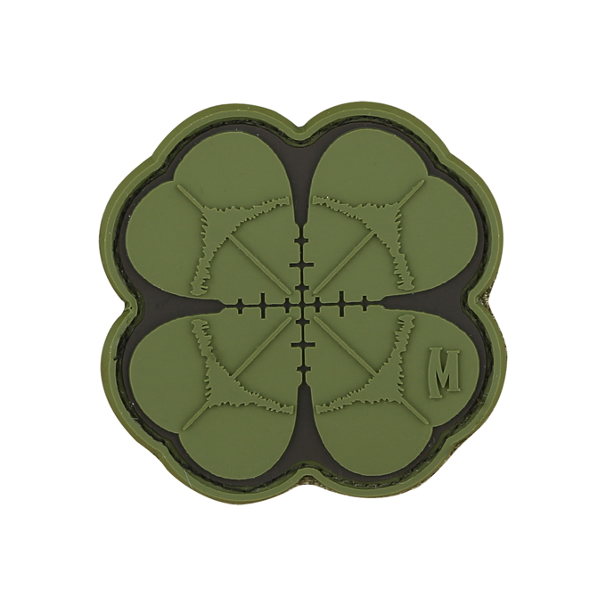 Maxpedition PVC Morale Patch - Lucky Shot Clover Green