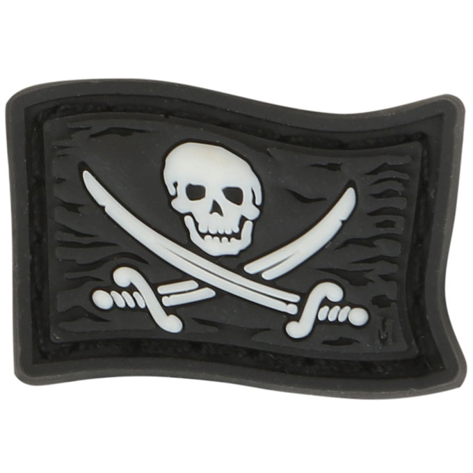 Maxpedition PVC Moral Patch - Jolly Roger [Mini] Glow
