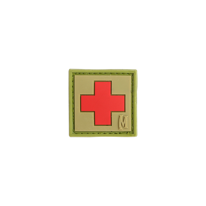"Maxpedition PVC Morale Patch - 1"" Medic Arid"