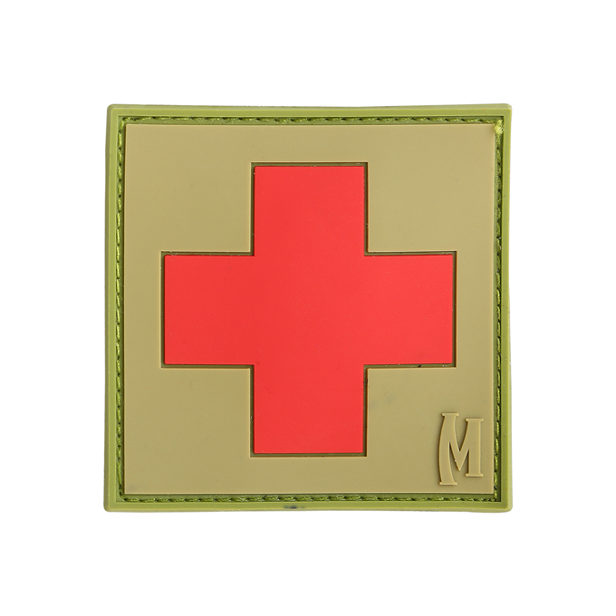 "Maxpedition PVC Morale Patch - 2"" Medic Arid"