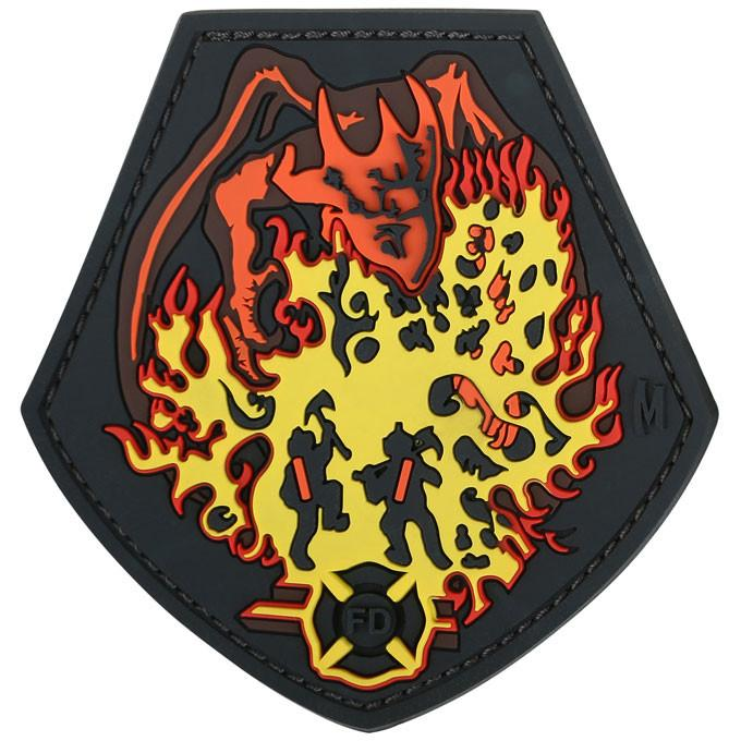 Maxpedition PVC Morale Patch - Firefighter Dragon [Full Colour]