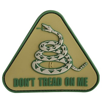 Maxpedition PVC Morale Patch - Don't Tread on Me - ARID