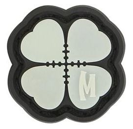 Maxpedition PVC Moral Patch - Lucky Short Clover (Mini) Glow