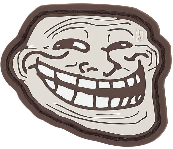 Maxpedition PVC Morale Patch - Troll Face Arid