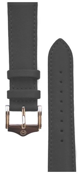 Melbourne Nappa Leather Black Watch Strap - 20mm