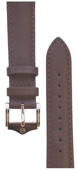 Melbourne Nappa Leather Brown Watch Strap - 20mm