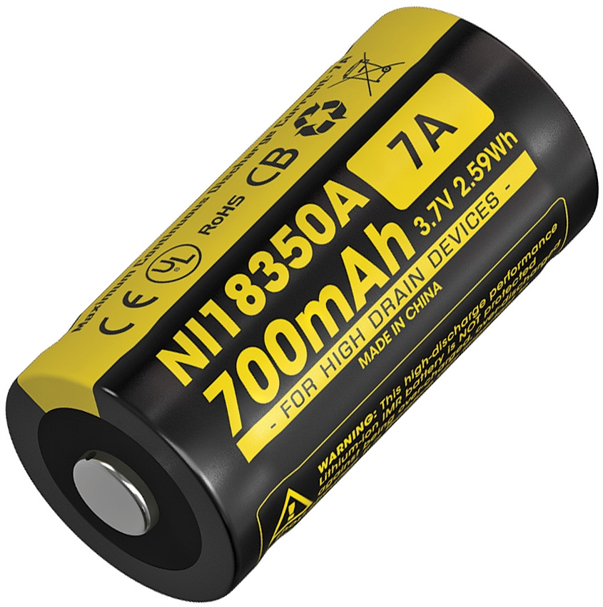 Nitecore IMR 18350 Li-ion Rechargeable Battery- 700mAh