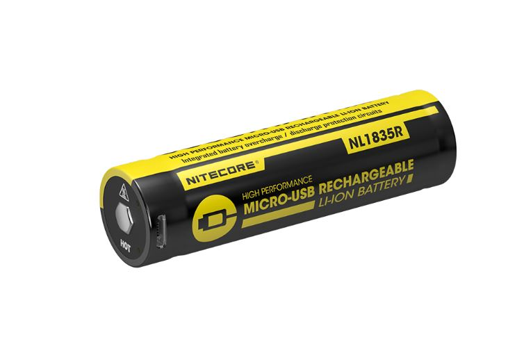 Nitecore 18650 USB Rechargeable Battery NL1835R - 3500 mAh