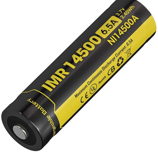 Nitecore IMR NI14500A Rechargeable Battery - 650mAh