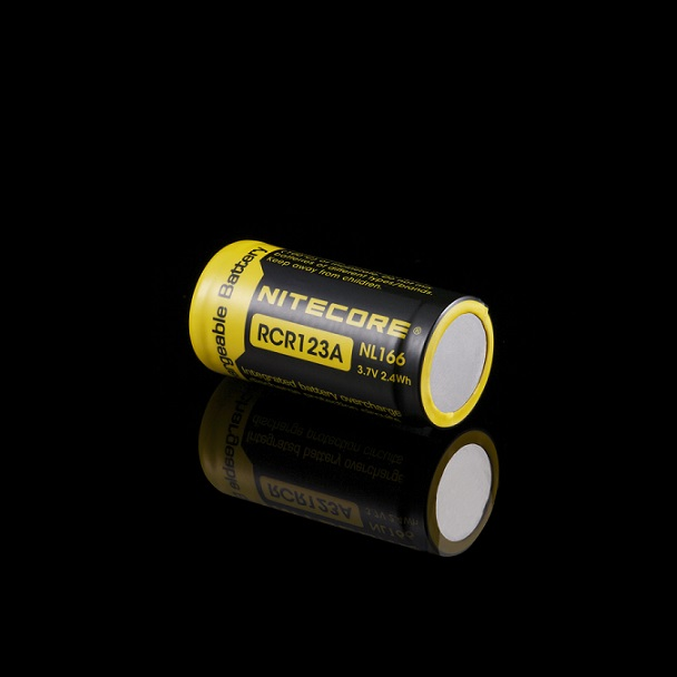 Nitecore RCR123A Rechargeable Battery - 650mAh