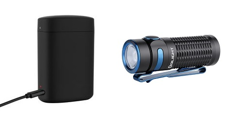 Olight Baton 3 Rechargeable Mini Flashlight, Black Premium Edition - 1200 Lumens