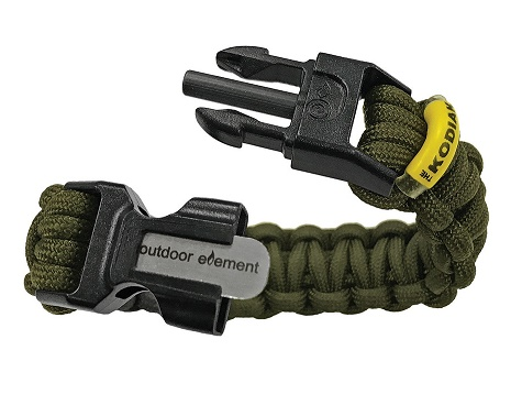 Outdoor Element KODIAK Survival Paracord Bracelet- Green