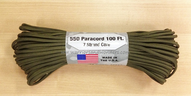 550 Paracord, 100Ft. - Olive Drab