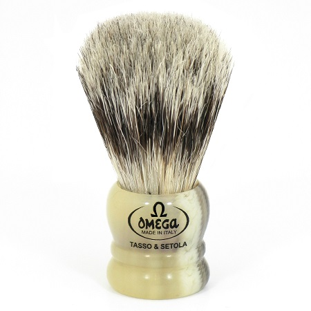 Omega Italy Bristle Mix Shaving Brush- Resin Handle 11047