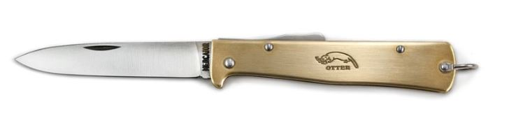OTTER-Messer Mercator Brass Otter 10726R Folder Stainless Steel