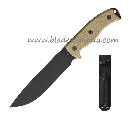 OKC 8668 RAT-7 Micarta Plain Edge w/ Soft Nylon Sheath