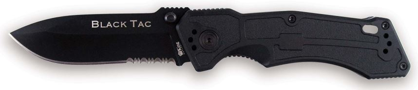 OKC 8793 King Cutlery Black Tac Partially Serated (Online Only)