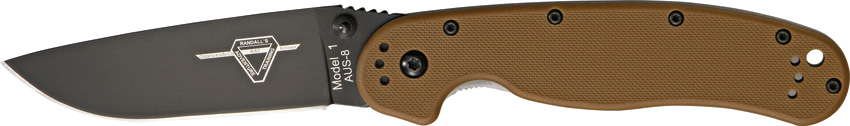 OKC 8846CB RAT 1 Black Plain Edge - Coyote Handle