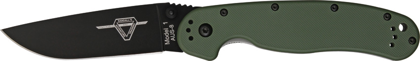 OKC 8846OD RAT 1 Black Plain Edge - OD Handle