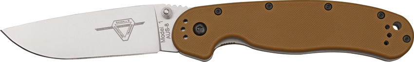 OKC 8848CB Rat 1 Plain Edge - Coyote Brown Handle