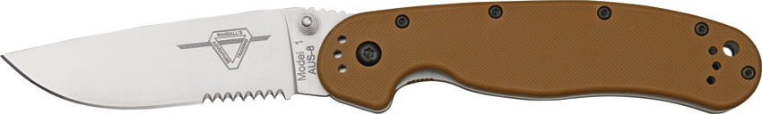 OKC 8849CB RAT 1 Partially Serrated - Coyote Handle