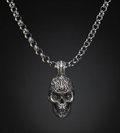 William Henry P5 Skull Pendant Necklace