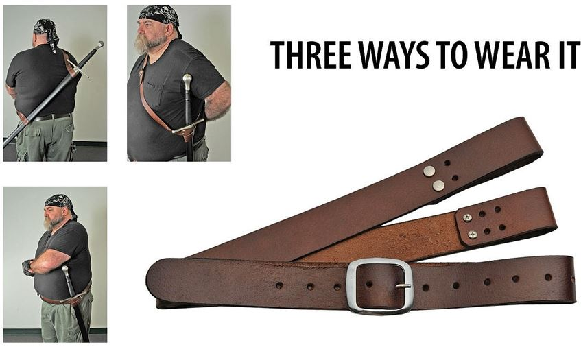 Multi-Carry Sword Belt - Brown
