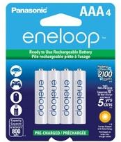 Panasonic Eneloop AAA Rechargeable Battery (4 Pack) 800 mAh