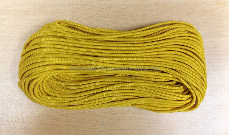 550 Paracord, 100Ft. - Yellow Gold