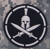 Mil-Spec Monkey Patch - Spartan Helmet PVC