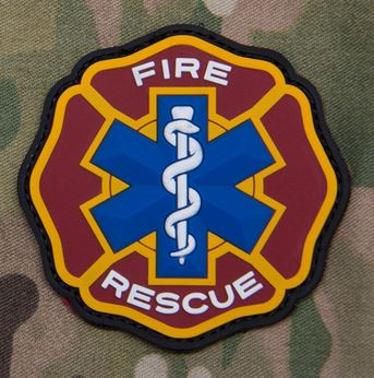 Mil-Spec Monkey Patch - Fire Rescue PVC