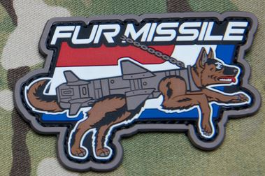 Mil-Spec Monkey Patch - Fur Missile PVC