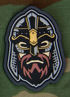 Mil-Spec Monkey Patch - Viking Warrior Head 2 PVC