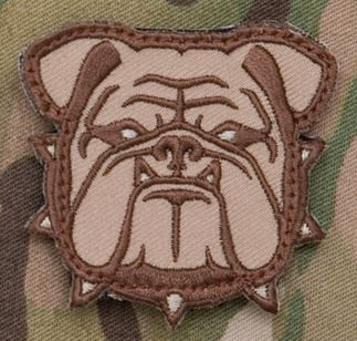 Mil-Spec Monkey Patch - Bulldog Head Small