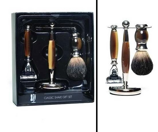 PureBadger Shaving Set - Faux Horn