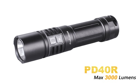 Fenix PD40R USB Rechargeable Flashlight - 3000 Lumens