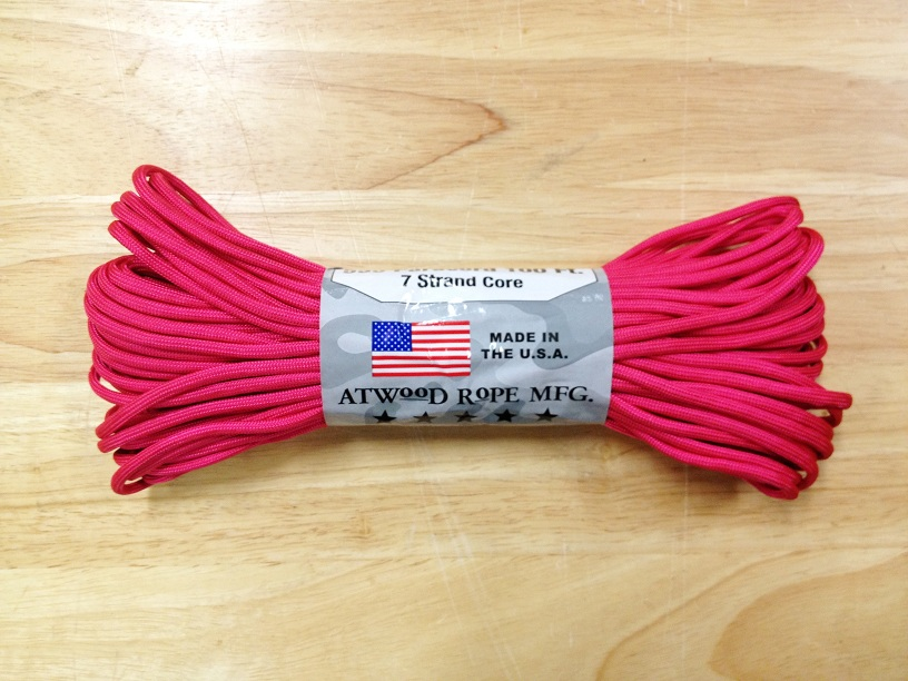 550 Paracord, 100Ft. - Pink