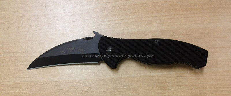 "Emerson Police PSARK BT Black Plain Edge ""Wave"" Folder"