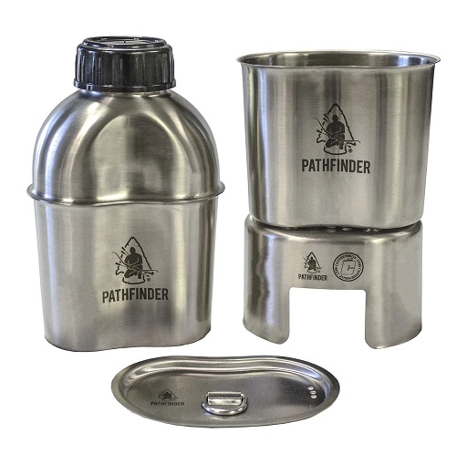Pathfinder Stainless Steel Canteen Cooking Set 1050-PF