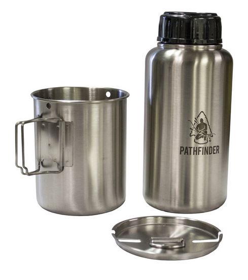 Pathfinder Stainless Water Bottle & Nesting Cup Set 099GEN3BC-PF