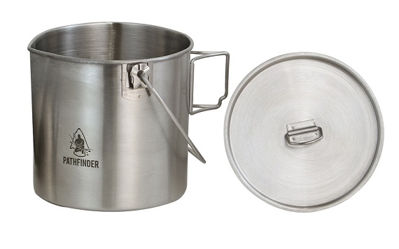 Pathfinder Stainless Steel Bush Pot & Lid 64oz SSBPLSET