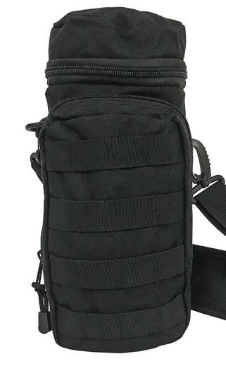 Pathfinder Water Bottle Bag w/ Shoulder Strap - Black