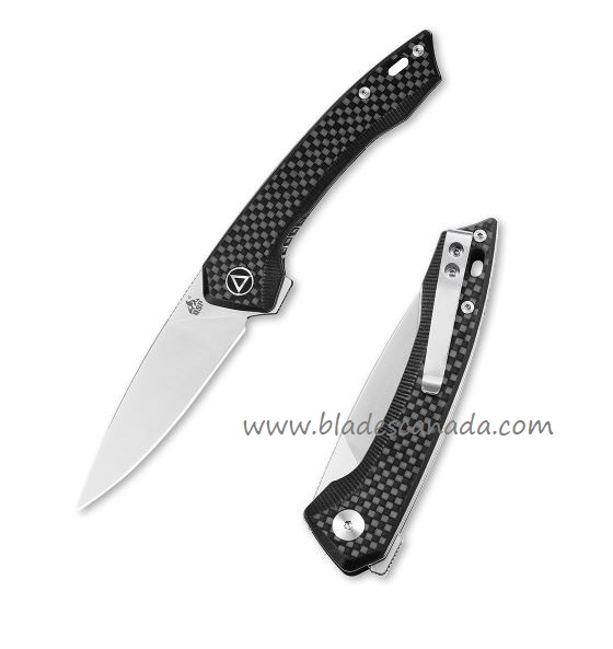QSP Knife Leopard Folder, Carbon Fiber G10 Handle QS135-A