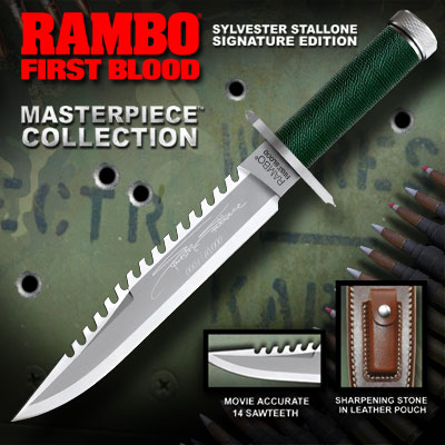 Rambo 9293 First Blood Signature Edition Fixed Blade (Online)