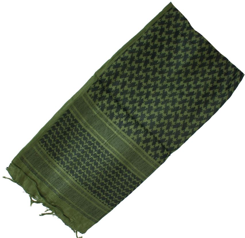 Red Rock Shemagh - Olive Drab/ Black