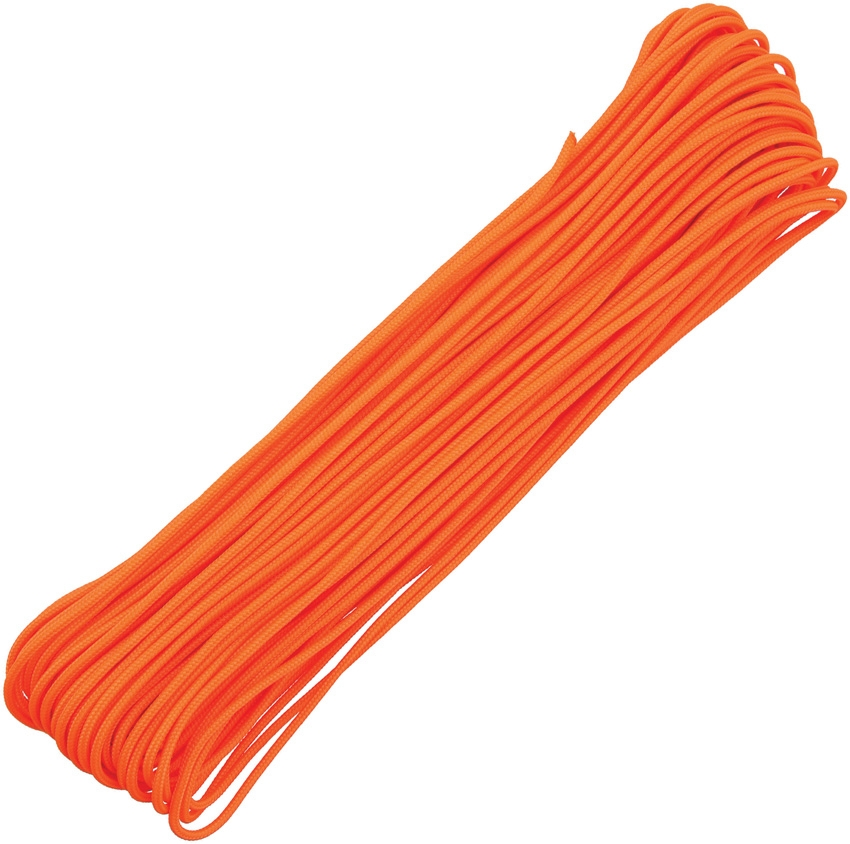 Tactical 3/32 Paracord 4-Strand, 100Ft. - Neon Orange