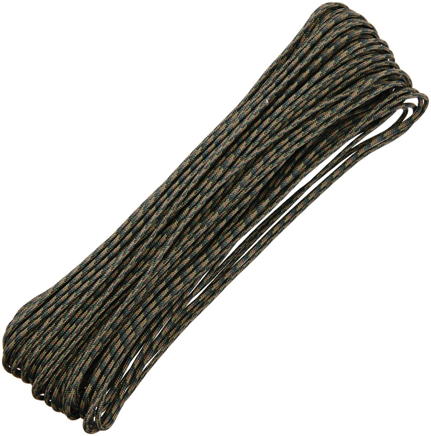Tactical 3/32 Paracord 4-Strand, 100Ft. - Woodland Camo