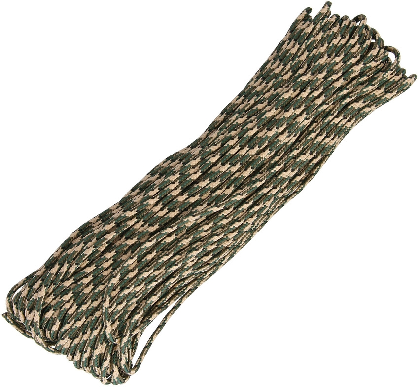 325 Paracord, 3-Strand 100Ft. - Woodland Camo