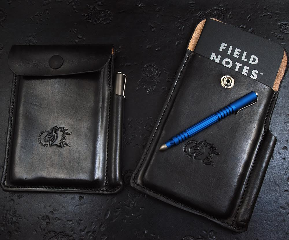 Hinderer Leather Notebook and Pen Case - Black